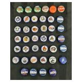 40 Labatt and Labatt NHL beer caps