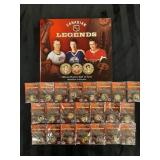Hockey Hall of Fame Medallion collection w/ pins