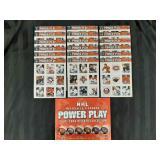 NHL power play 02/03 sticker book & sticker set