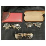 Two Pair Retro Glasses + Cheater Glasses +250
