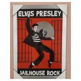 Elvis Presley Jailhouse Rock Framed Picture w/LP