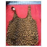 Brand new animal print cloth handbag.
