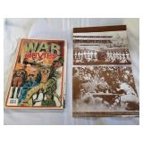 Book about war movies and two baseball prints