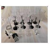 Wine glasses and bar glass lot