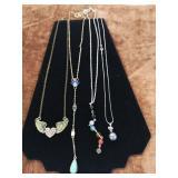 4x costume jewellery necklaces
