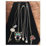 5 costume jewellery necklaces
