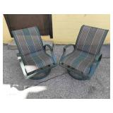 2 Outdoor Swivel Patio Chairs made in Canada