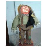Light up pumpkin head scarecrow