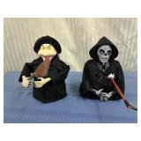 Animated Witch and Grim Reaper