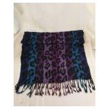 Ladies animal print scarf