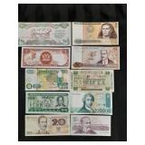 10 world Bank currency notes