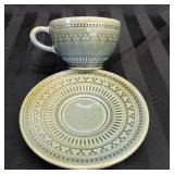 Irish Porcelain Teacup and Saucer Set