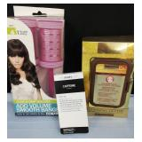 Hair rollers and skin cleanser