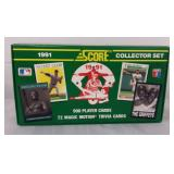New in box Score MLB 1991 Collector Set 900 cards