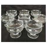 8x beautiful parfait glasses made in Denmark.