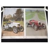 Lot of 3 Vintage Car Posters