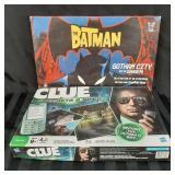 Clue and Batman board games