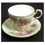 Paragon Cup & Saucer with Pink Roses