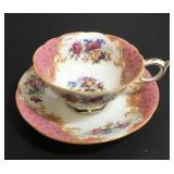 Paragon Rockingham Pink Cup & Saucer