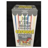 New in package Carousel plastic drinking straws