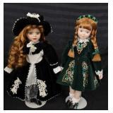 Two beautiful porcelain dolls.