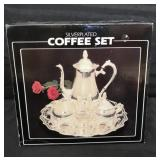Brand new in box silver-plated coffee set