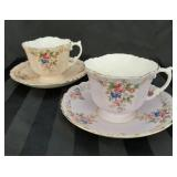 Beautiful pair of Aynsley cup and saucer sets