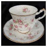 Paragon Victoriana Rose bone china cup and saucer