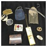 Lot of vintage make up cases and clutches
