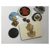 Assorted Military Badges Pips Lighter Lot