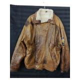 Pre-owned mens leather jacket made in England.
