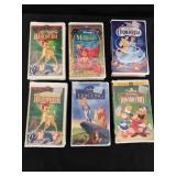 Six Disney VHS movies: Bambi, Cinderella++