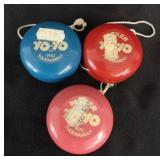 3 x vintage Parker pro tournament yo-yo