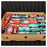 Approximately 50 vintage collectible soda cans