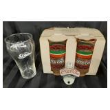 Coca-Cola Glasses (5) & Coca-cola Bottle Opener