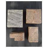 Advertising Newspaper Printing Blocks ( 4 )