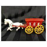 Vintage Cast Iron Horse & Carriage