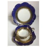 Bavaria Cobalt Blue & Gold Plate Cup & Saucer