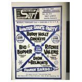 Buddy Holly Big Bopper Valens Poster Reprint