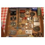 BUCKLES, WATCHES, JEWELRY, MISC.