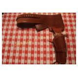 LEATHER VIKING GUN BELT & HOLSTER