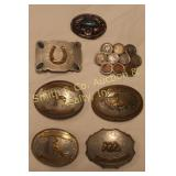 BUCKLES, SILVER, COINS