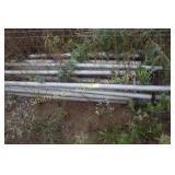 SEVERAL JOINTS OF ALUMINUM IRRIGATION PIPE