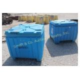 2 BLUE STORAGE CONTAINERS