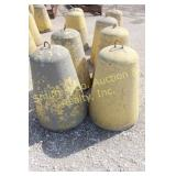 CEMENT BARRICADES, GROUP OF 4
