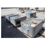 CONCRETE SELF WATERERS, GROUP OF 4