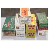 AMMO - 8 BOXES OF 25-20 (2 boxes are partials)