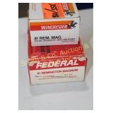 AMMO - 2 PARTIAL BOXES 41 REM MAG