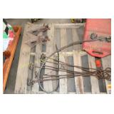 BRANDING IRONS, JACK STANDS, FUEL CAN