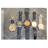 GROUP OF 5 WRIST WATCHES